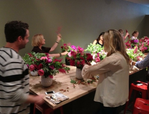 Master class with Matthew Robbins at Flower School New York