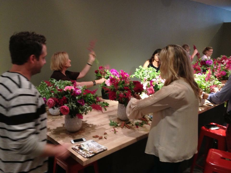 Mary Pinson Master Class With Matthew Robbins At Flower School